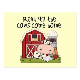 Read 'til The Cows Come Home Postcard