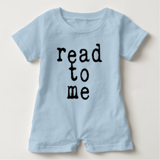 """""""read to me"""" in Old Typewriter Font Baby Romper"""
