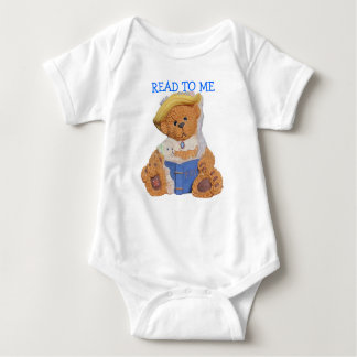 Read To Me Momma Bear and cub Baby Bodysuit
