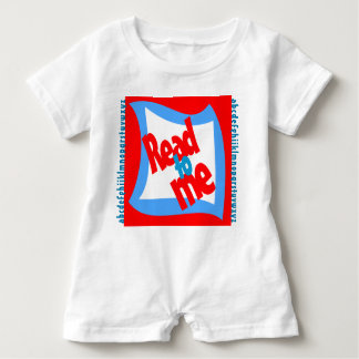 """""""Read to Me"""" Romper - Red and Turquoise"""