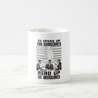 Read Up On Democracy - Vintage WPA Coffee Mug