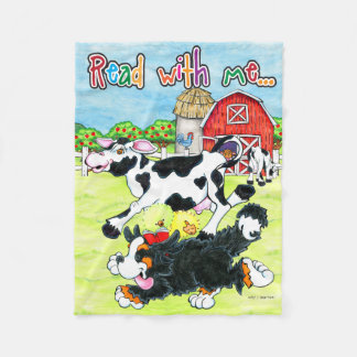 Read with Me Jo, Belle and Simon fleece blanket