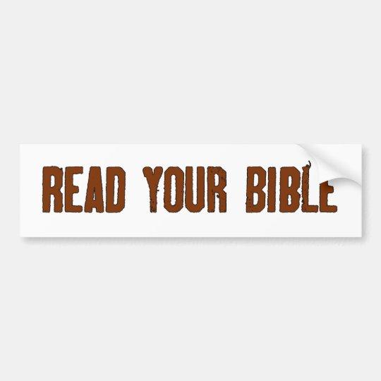 Read Your Bible Bumper Sticker