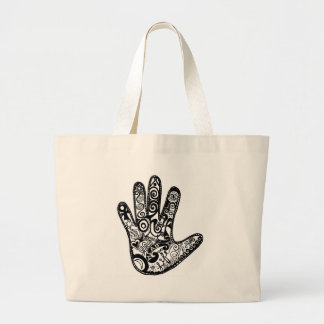 READ YOUR PALM LARGE TOTE BAG