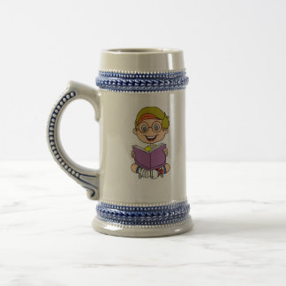 reader boy beer stein