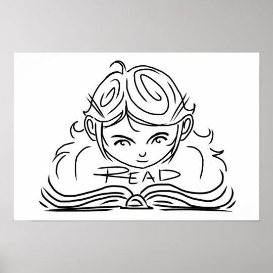 Reader Girl Poster