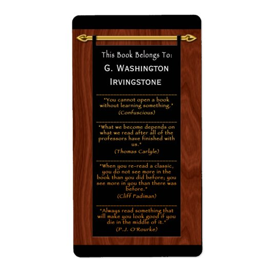 Reader's Quotes (Personalized Bookplate)
