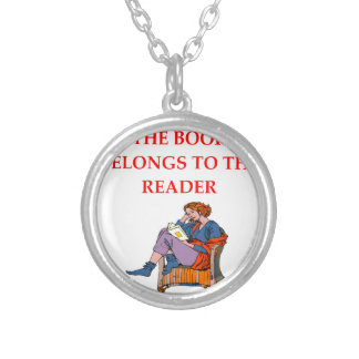 READER SILVER PLATED NECKLACE