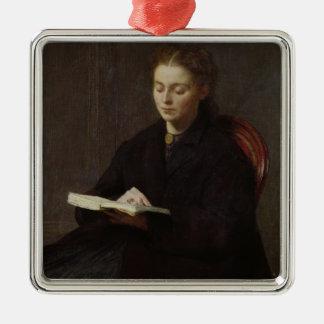 Reading, 1863 Silver-Colored square ornament