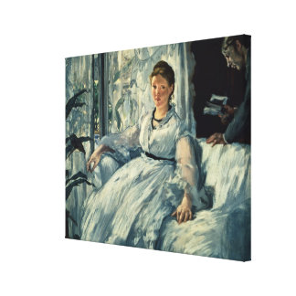 Reading, 1865 gallery wrapped canvas