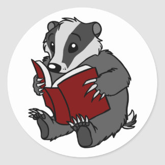 Reading Badger - Sticker