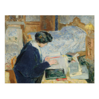 Reading Beside Her Bed Postcard