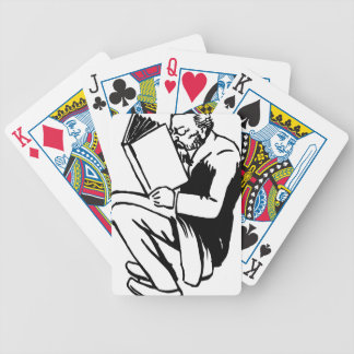 Reading Books Bicycle Playing Cards