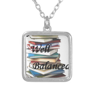 Reading Books Life Silver Plated Necklace