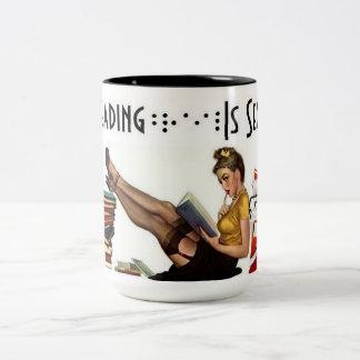 Reading Brail is... Two-Tone Coffee Mug