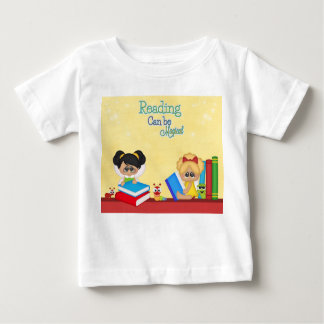 Reading Can Be Magical Books Red Yellow Bugs Girls Baby T-Shirt
