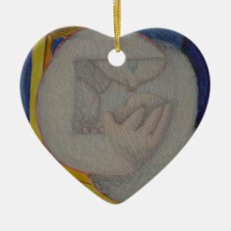 Reading Chair Ceramic Heart Ornament