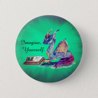 Reading Dragon 2 Inch Round Button