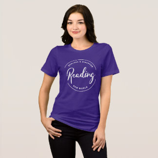 Reading, explore and discover new world shirt