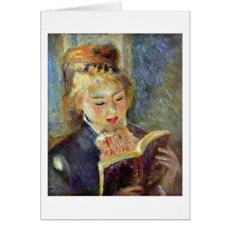 Reading Girl By Pierre-Auguste Renoir Card