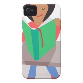Reading Girl iPhone 4 Cover