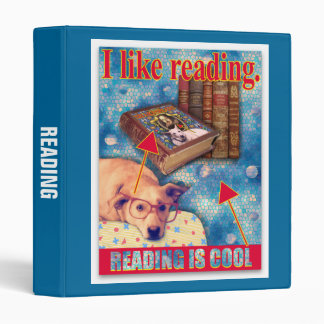 READING IS COOL 3 RING BINDERS