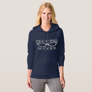 Reading is Cool Hoodie with Cat Eye Glasses