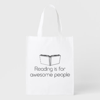 Reading is for Awesome People Reusable Grocery Bags