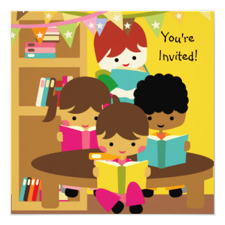 Reading is Fun Birthday Invitation