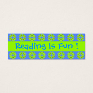Reading Is Fun Bookmarks Mini Business Card