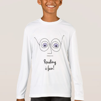 Reading is fun Face Wearing Glasses Design T-Shirt