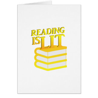 Reading Is Lit Funny Literacy Gift Card