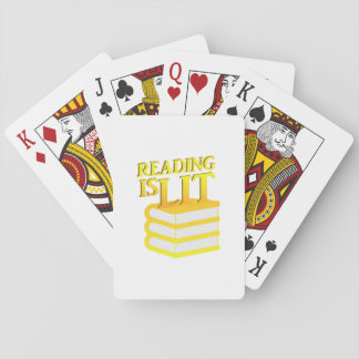 Reading Is Lit Funny Literacy Gift Playing Cards