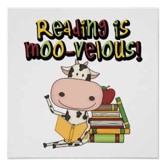 Reading is Moo-velous Poster