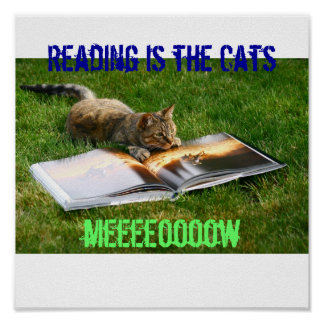 Reading is the Cats Meow Poster