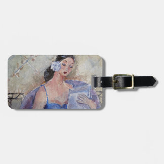 Reading Lady by Marie Theron Luggage Tag