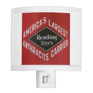 Reading Lines America's Largest Anthracite Carrier Nite Light