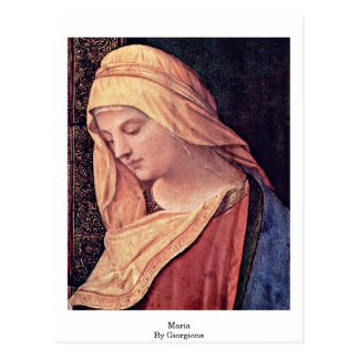Reading Madonna Detail: Maria By Giorgione Postcard
