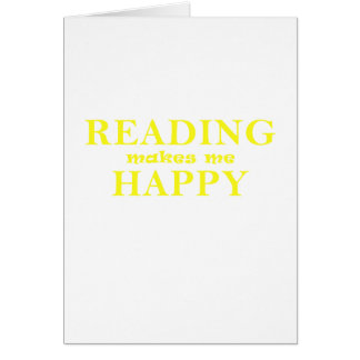 Reading Makes Me Happy Card
