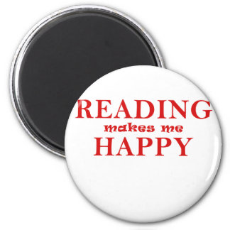 Reading Makes Me Happy Magnet