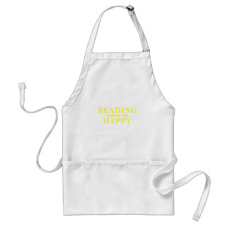 Reading Makes Me Happy Standard Apron