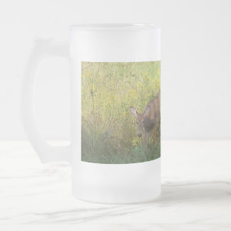 Reading Mountain Deer - Customized Frosted Glass Beer Mug