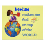 Reading on Top of the World! Poster
