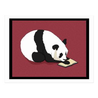 Reading Panda Postcard