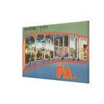 Reading, Pennsylvania - Large Letter Scenes Canvas Prints