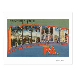 Reading, Pennsylvania - Large Letter Scenes Postcard