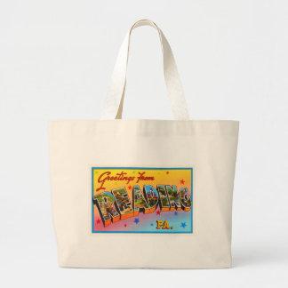 Reading Pennsylvania PA Vintage Travel Souvenir Large Tote Bag