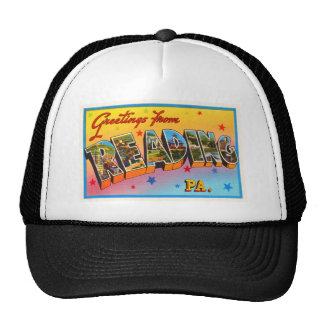 Reading Pennsylvania PA Vintage Travel Souvenir Trucker Hat
