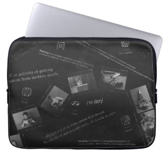 Reading Photogram Laptop Sleeve