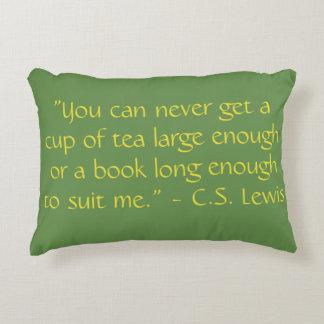 Reading Quotes Pillow C.S. Lewis